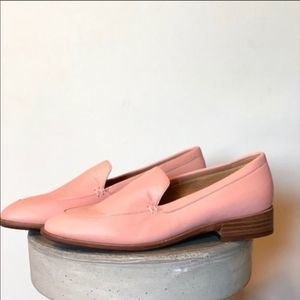 Madewell Blush Pink Leather The Frances Loafer